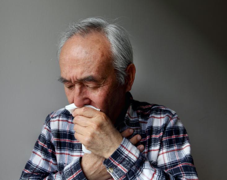 Síntomas del cáncer de pulmón: Expectoración de sangre o moco