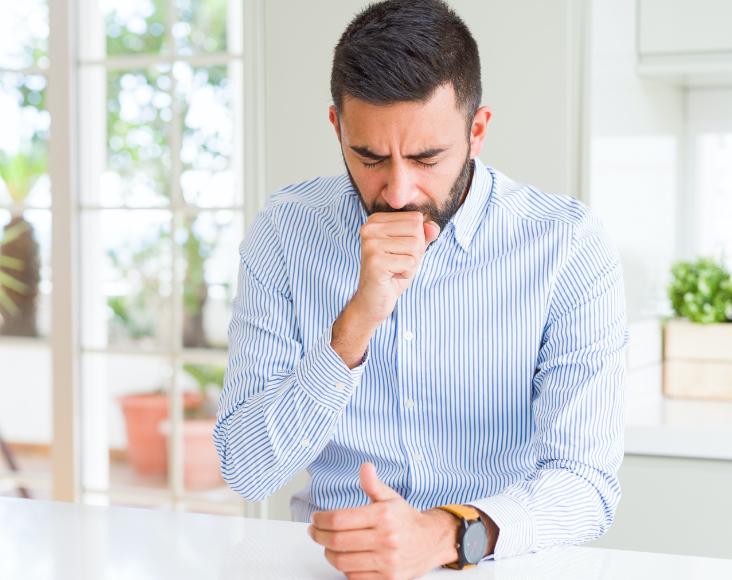 Síntomas de las enfermedades respiratorias minoritarias: FPI, Tos seca, molestias en pecho y espalda.
